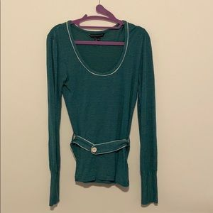French Connection Teal Striped Blouse
